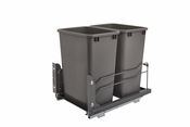 Rev-A-Shelf - 53WC-1835SCDM-213 - Dbl 35 QT Pull-out Waste Container Soft-Close
