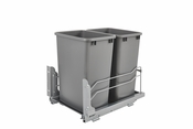 Rev-A-Shelf - 53WC-1835SCDM-217 - Dbl 35 QT Pull-out Waste Container Soft-Close