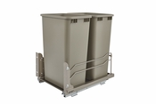 Rev-A-Shelf - 53WC-2150SCDM-212 - Dbl 50 QT Pull-out Waste Container Soft-Close