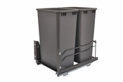 Rev-A-Shelf - 53WC-2150SCDM-213 - Dbl 50 QT Pull-out Waste Container Soft-Close