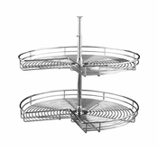 "Rev-A-Shelf - 5472-28-CR - 28"" Chrome Kidney  Lazy Susan 2-Shelf"