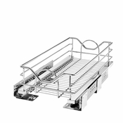 "Rev-A-Shelf - 5730-12CR - 12"" Chrome  Pullout Basket with Soft-Close"