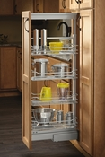 "Rev-A-Shelf - 5750-20-CR-1 - 20"" Chrome Basket Pantry Pullout Soft Close"