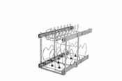"Rev-A-Shelf - 5CW2-1222SC-CR - 12"" 2-Tier Cookware Organizer w/ Soft-Close"