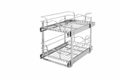 "Rev-A-Shelf - 5WB2-1522-CR - 15"" Chrome Two-Tier Wire Baskets"