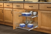 "Rev-A-Shelf - 5WB2-1822-CR - 18"" Chrome Two-Tier Wire Baskets"