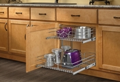 "Rev-A-Shelf - 5WB2-2122-CR - 21"" Chrome Two-Tier Wire Baskets"