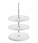 "Rev-A-Shelf - 6013-18-11-526 - 18"" White Polymer Full Circle Lazy Susan 3-Shelf"