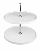 "Rev-A-Shelf - 6072-16-11-52 - 16"" White Polymer Full Circle Lazy Susan 2-Shelf"