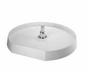 "Rev-A-Shelf - 6221-22-11-52 - 22"" White Polymer D-Shape Lazy Susan Bottom Mount"