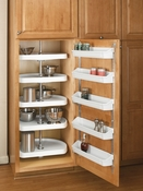 "Rev-A-Shelf - 6265-22-11-52 - 22""  White Polymer Pantry D-Shape Lazy Susan 5-Tier"