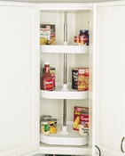 "Rev-A-Shelf - 6273-20-11-536 - 20"" White Polymer D-Shape Lazy Susan 3-Shelf"