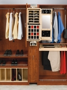 Rev-A-Shelf - CAG-081642-1 - Gentleman's Closet Armoire Wood
