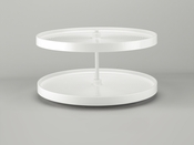 "Rev-A-Shelf - LD-2062-32BM-11-1 - 32""  White Polymer Full Circle Lazy Susan 2-Shelf"