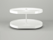 "Rev-A-Shelf - LD-2262-32BM-11-1 - 32""  White Polymer D-Shape Lazy Susan 2-Shelf"