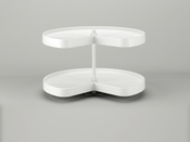"Rev-A-Shelf - LD-2472-28BM-11-1 - 28""  White Polymer Kidney Lazy Susan 2-Shelf"