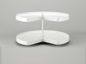 "Rev-A-Shelf - LD-2472-32BM-11-1 - 32""  White Polymer Kidney Lazy Susan 2-Shelf"