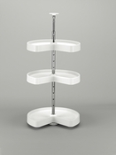 "Rev-A-Shelf - LD-2473-1836-11-1 - 18"" White Polymer Kidney Lazy Susan 3-Shelf"