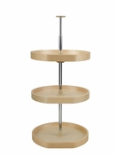 "Rev-A-Shelf - LD-4BW-263-2036-1 - 20"" Banded Wood D-Shape Lazy Susan 3-Shelf"