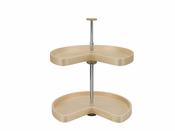 "Rev-A-Shelf - LD-4BW-472-24-1 - 24"" Banded Wood Kidney Lazy Susan 2-Shelf"
