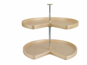 "Rev-A-Shelf - LD-4BW-472-32-1 - 32"" Banded Wood  Kidney Lazy Susan 2-Shelf"