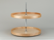 "Rev-A-Shelf - LD-4NW-072-28-1 - 28"" Natural Wood  Full Circle Lazy Susan 2-Shelf"