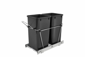 Rev-A-Shelf - RV-15KD-18C-S - Double 27 Quart Pullout Waste Containers