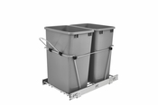 Rev-A-Shelf - RV-18KD-17C-S - Double 35 Quart Pullout Waste Containers