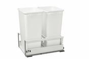 Rev-A-Shelf - TWCSD-1850DM-2 - Servo Dbl 50 QT Pullout Waste Container