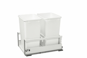 Rev-A-Shelf - TWCSD-18DM-2 - Servo Dbl 35 QT Pullout Waste Container