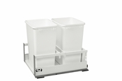 Rev-A-Shelf - TWCSC-21DM-2 - Dbl 35 QT Tandem Pullout Waste Container