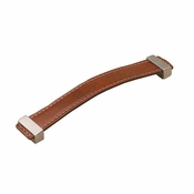 Richelieu - Contemporary Leather Pull - 7453 - 74536616019545 - Brown Leather / Brushed Nickel - 195 - 45