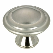 Richelieu - Contemporary Metal Knob - 2063 - BP20630195 - Brushed Nickel - 195