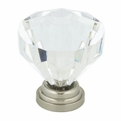 Richelieu - Eclectic Acrylic and Metal Knob - 10080 - BP1008019511 - Clear / Brushed Nickel - 195 - 11