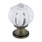 Richelieu - Eclectic Acrylic and Metal Knob - 4035 - BP4035AE11 - Clear / Antique English - 11 - AE
