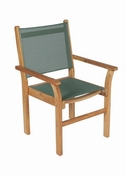 Royal Teak - Captiva Sling Stacking Chair-Moss - CAPM