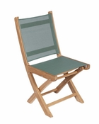 Royal Teak - Sailmate Folding Side Chair-Moss Sling - SMSM