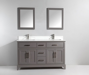 Vanity Art - Bathroom Vanity Set - VA1072DG - Grey