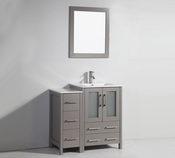 Vanity Art - Bathroom Vanity Set - VA3024-36G - Grey