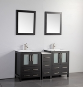 Vanity Art - Bathroom Vanity Set - VA3024-60E - Espresso