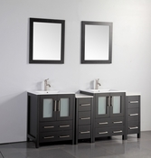 Vanity Art - Bathroom Vanity Set - VA3024-72E - Espresso