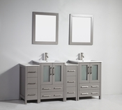 Vanity Art - Bathroom Vanity Set - VA3024-72G - Grey