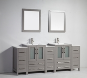 Vanity Art - Bathroom Vanity Set - VA3024-84G - Grey