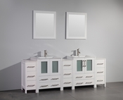 Vanity Art - Bathroom Vanity Set - VA3024-84W - White