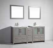Vanity Art - Bathroom Vanity Set - VA3030-72G - Grey