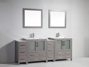 Vanity Art - Bathroom Vanity Set - VA3030-84G - Grey