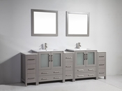 Vanity Art - Bathroom Vanity Set - VA3030-96G - Grey