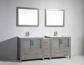 Vanity Art - Bathroom Vanity Set - VA3036-84G - Grey