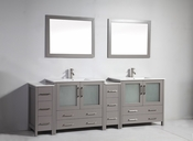 Vanity Art - Bathroom Vanity Set - VA3036-96G - Grey