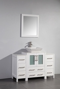 Vanity Art - Bathroom Vanity Set - VA3124-48W - White